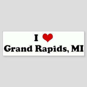 I Love Grand Rapids, MI Bumper Sticker