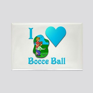 I Love Bocce Ball #2 Rectangle Magnet