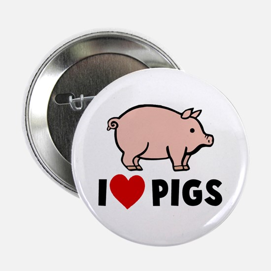"""I heart pigs 2.25"""" Button"""