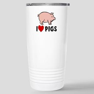 I heart pigs Stainless Steel Travel Mug
