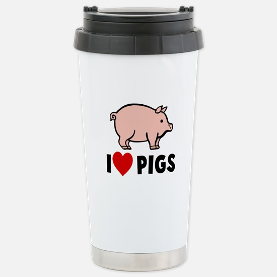 I heart pigs Stainless Steel Travel Mug
