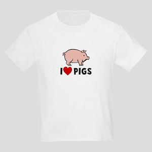 I heart pigs Kids Light T-Shirt
