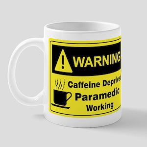 Caffeine Warning Paramedic on Front of Mug