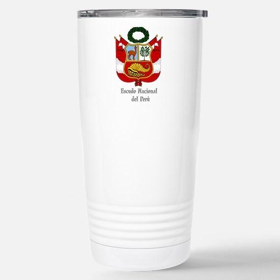 Coat of Arms of Peru / Stainless Steel Travel Mug