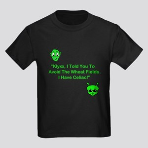 Klyxx, Avoid The Wheat! Kids Dark T-Shirt