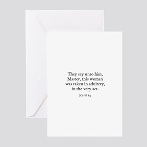 JOHN  8:4 Greeting Cards (Pk of 10)