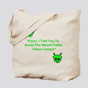 Klyxx, Avoid The Wheat! Tote Bag