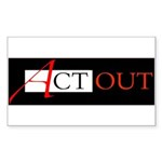Act Out Rectangle Sticker 50 pk)