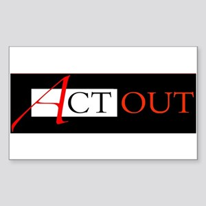 Act Out Rectangle Sticker