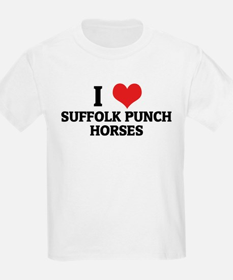I Love Suffolk Punch Horses Kids T-Shirt