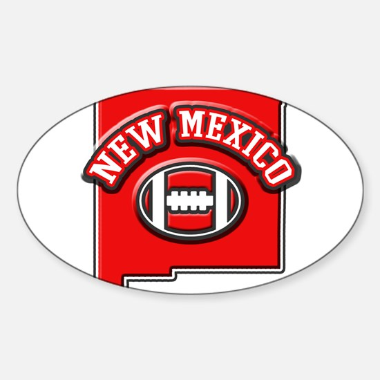 New Mexico Football Oval Decal