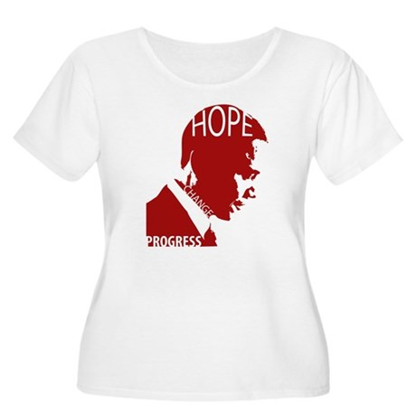 New HOPE-red Women's Plus Size Scoop Neck T-Shirt