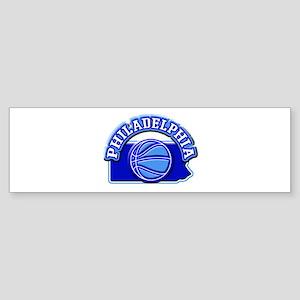 hiladelphia Basketball Bumper Sticker