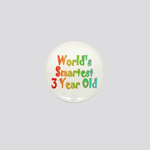 World's Smartest 3 Year Old Mini Button