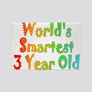 World's Smartest 3 Year Old Rectangle Magnet
