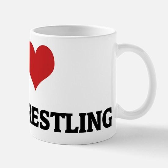I Love Steer Wrestling Mug