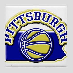 Pittsburgh Basketball Tile Coaster