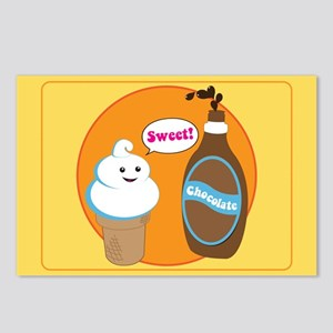 Ice Cream & Chocolate Postcards (Package of 8)