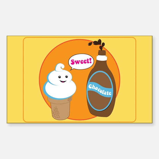 Ice Cream & Chocolate Rectangle Decal