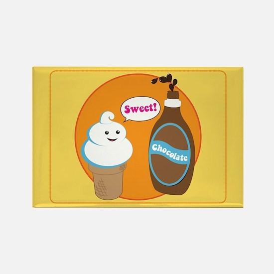Ice Cream & Chocolate Rectangle Magnet