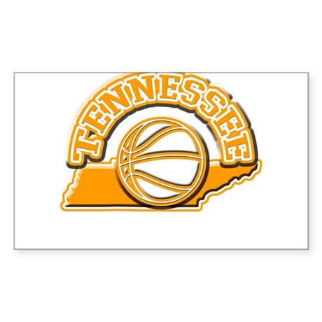Tennessee Basketball Rectangle Sticker