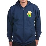 Irish Beer By The Pitcher Zip Hoodie (dark)