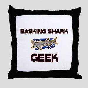 Basking Shark Geek Throw Pillow