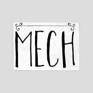 Mech 5'x7'Area Rug