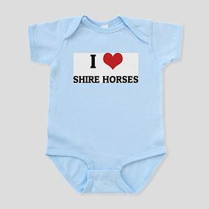 I Love Shire Horses Infant Creeper
