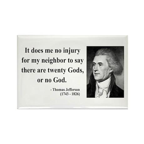 Thomas Jefferson 9 Rectangle Magnet (100 pack)