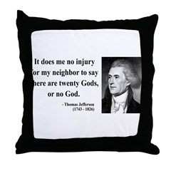 Thomas Jefferson 9 Throw Pillow