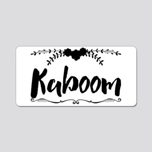 Kaboom Aluminum License Plate