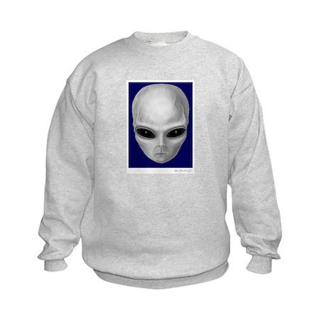 Alien Stare Kids Sweatshirt (Front & Back Images)