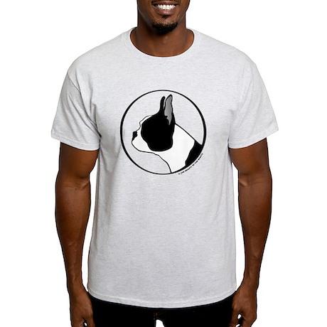 Boston Terrier Head B&W Light T-Shirt