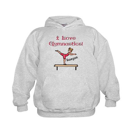 -I Love Gymnastics (Raegan) Kids Hoodie