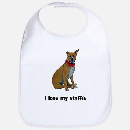 I Love My Staffie Bib