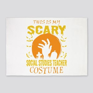 This Is My Scary Social Studies Tea 5'x7'Area Rug