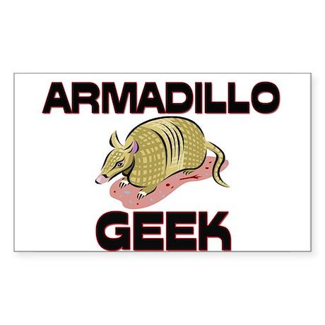 Armadillo Geek Rectangle Sticker