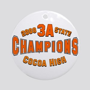 CHS 2008 3A State Champions Ornament (Round)