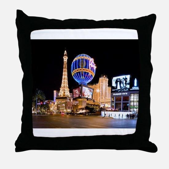 Paris Las Vegas Throw Pillow