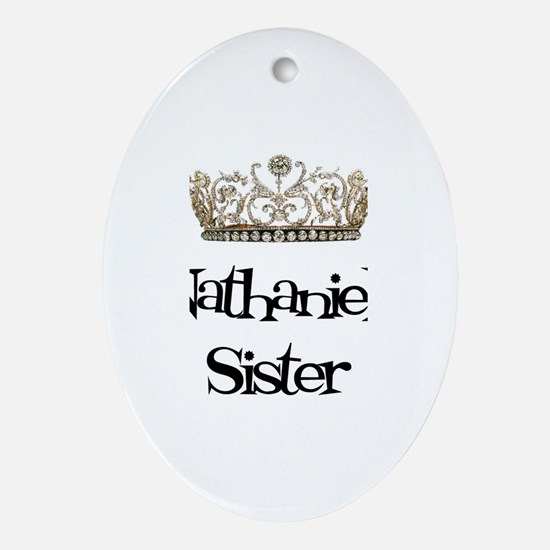Nathaniel's Sister Oval Ornament