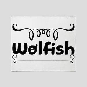 Wolfish Throw Blanket