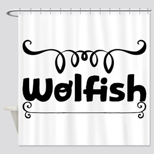 Wolfish Shower Curtain