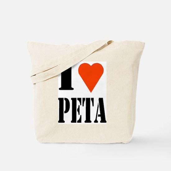 I Love PETA Tote