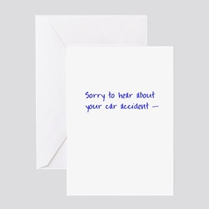 Sorry to hear about your car accident card