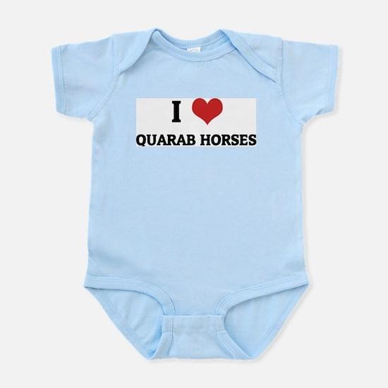 I Love Quarab Horses Infant Creeper