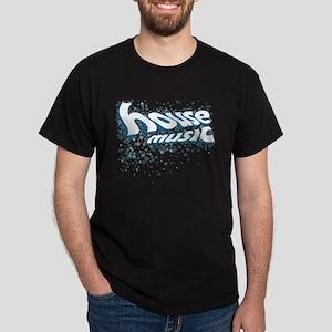House Music Circles Blue Dark T-Shirt