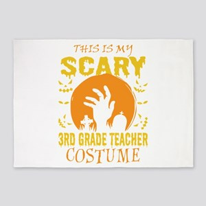 This Is My Scary 3rd Grade Teacher 5'x7'Area Rug