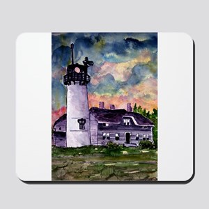 Chatham Cape Cod Lighthouse Painting Mousepad
