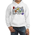 Rainbow Skulls Hooded Sweatshirt